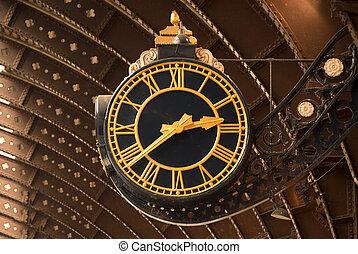Antique Railway Station Clock
