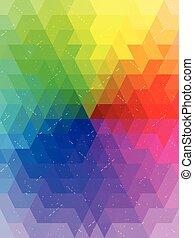 Antique rainbow color chart background