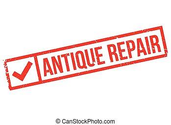 Antique Repair rubber stamp