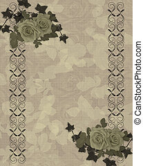 Antique roses border