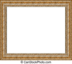 Antique rustic silver picture frame isolated - Antique...