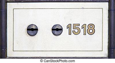 Antique safe deposit box