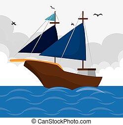 Antique sail boat