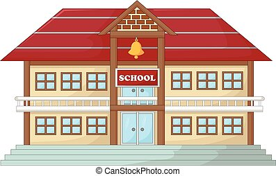 antique school building cartoon