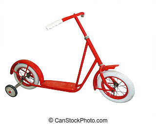 Antique Scooter isolated with clipping path