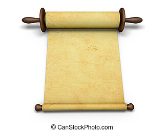 Antique scroll of parchment