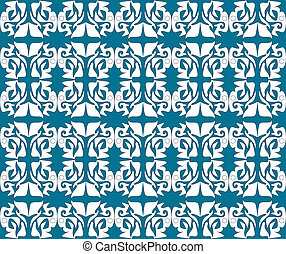 Antique scroll seamless wallpaper