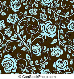Antique scrolling rose seamless pattern