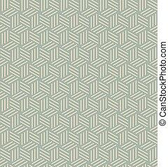 Antique seamless background 3D line box pattern
