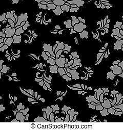 Antique seamless background botanic garden flower blossom