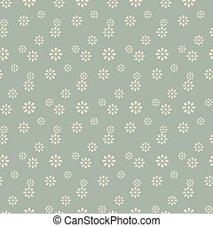 Antique seamless background cute daisy flower