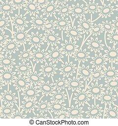 Antique seamless background garden daisy flower