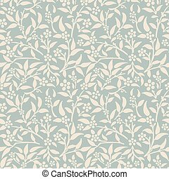 Antique seamless background garden flower leaf plant