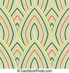 Antique seamless background image of colorful curve repeat line scale