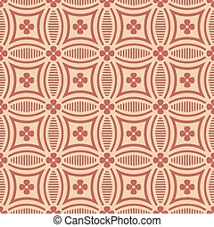 Antique seamless background image of curve round cross line flower