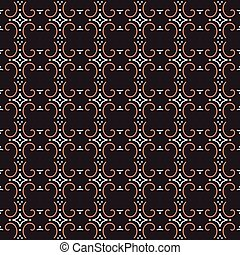 Antique seamless background image of round spiral curve cross dot line