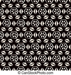 Antique seamless background image of vintage polygon cross triangle flower