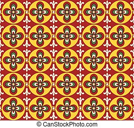 Antique seamless background image of vintage round cross curve flower