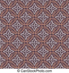 Antique seamless background image of vintage round cross flower kaleidoscope