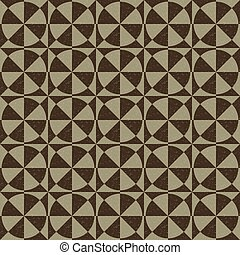 Antique seamless background image of vintage round cross geometry