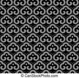 Antique seamless background oriental curve spiral cross ...