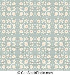 Antique seamless background vintage cross flower dot line