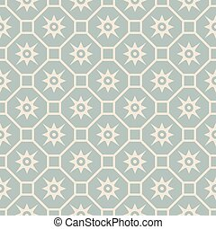 Antique seamless background vintage polygon square cross flower