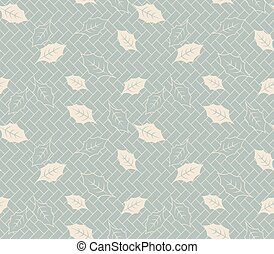 Antique seamless background vintage golden nature leaf square geometry cross
