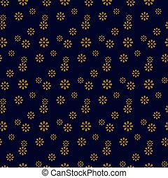 Antique seamless gold background cute daisy flower