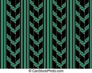 Antique seamless green background check arrow line