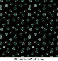 Antique seamless green background cute daisy flower