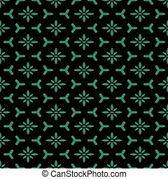 Antique seamless green background polygon cross flower