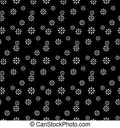 Antique seamless silver background cute daisy flower
