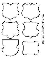 antique shields set (vector)