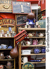 Antique shop - Collection of Items in a London\\\'s antique...