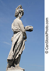 antique statue in Florence - Allegory of Summer by...