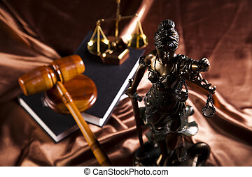 Antique statue of justice, law - Law and justice concept in...