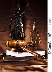 Antique statue of justice, law