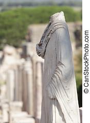 Antique statue - Antique marble statue in ancient city