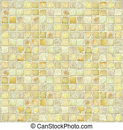 Antique Stone Tile Mosaic - Image of a Antique Stone Tile...