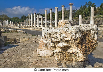archaeological site , Beit Shean , Israel