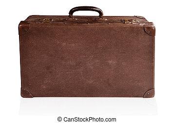 Antique suitcase.