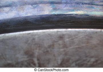 Antique tarnished silver background