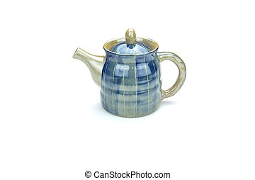 Antique teapot isolated on white background