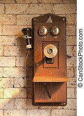 Antique telephone.