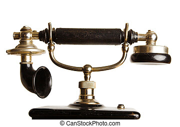 Antique telephone - Headset of an antique telephone against...