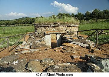 antique tomb