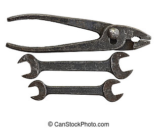 Antique Tool Set - Antique tool set made up of 2 open ended ...