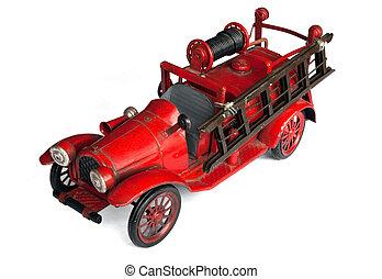 Antique Toy Fire Engine