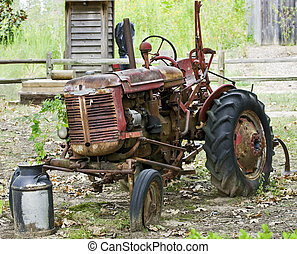 Antique Tractor - An old Antique tractor in Farm Country